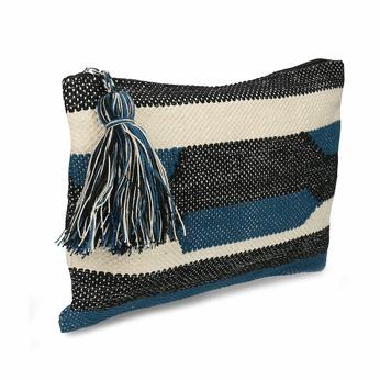 Textilní tkaná barevná dámská kabelka do ruky bata, vícebarevné, 969-0609 - 13
