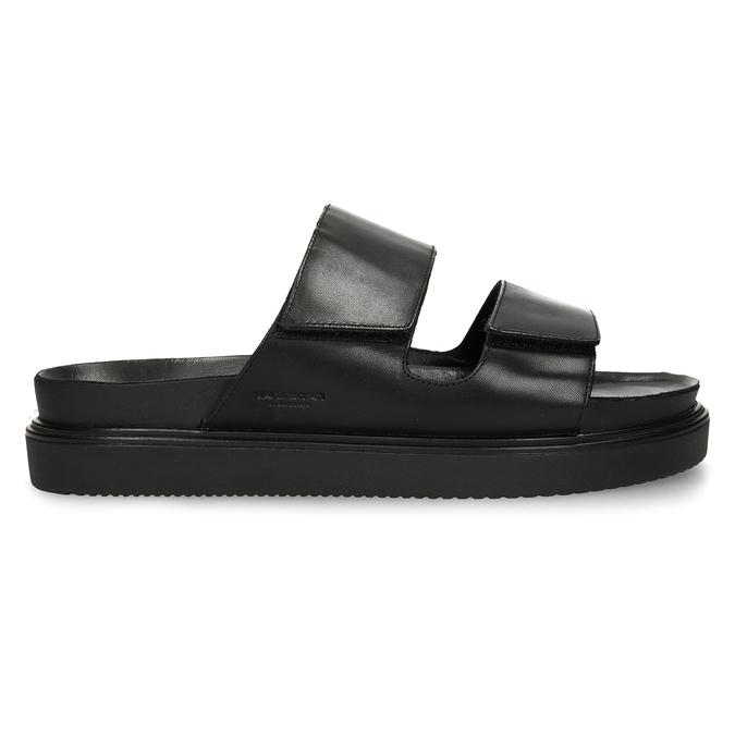 Černé pánské kožené pantofle vagabond, černá, 864-6610 - 19