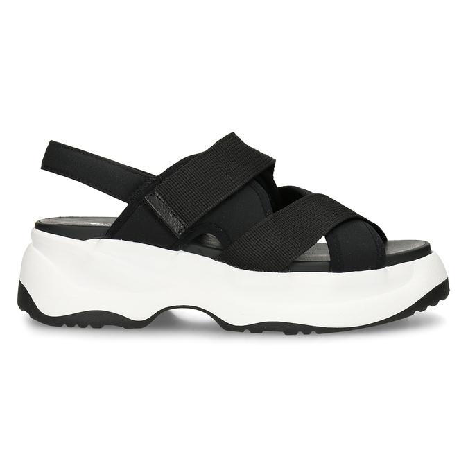 Černé dámské sandály na robustní podešvi vagabond, černá, 569-6600 - 19