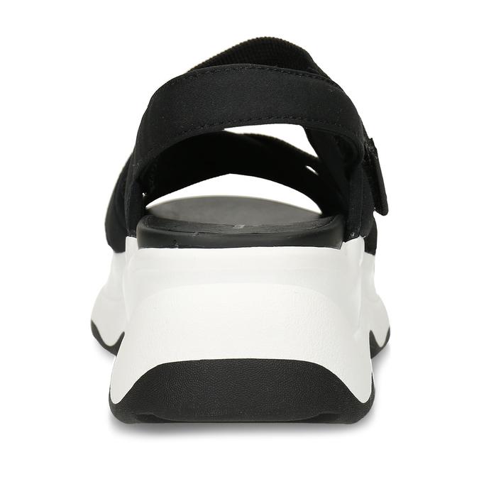 Černé dámské sandály na robustní podešvi vagabond, černá, 569-6600 - 15