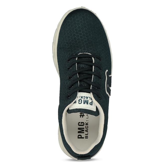 Modré textilní dětské sportovní tenisky primigi, černá, 219-6604 - 17