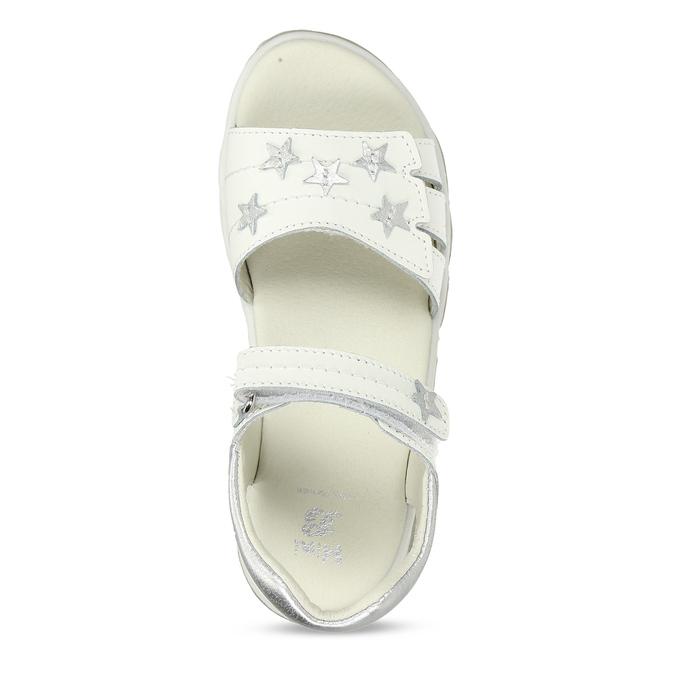 Bílé kožené dívčí sandály s hvězdičkami mini-b, bílá, 264-1601 - 17