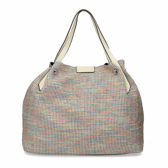 Barevná dámská kabelka s krémovými držadly bata, vícebarevné, 969-1673 - 16