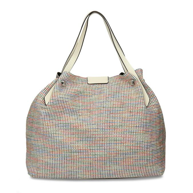 Barevná dámská kabelka s krémovými držadly bata, vícebarevné, 969-1673 - 26