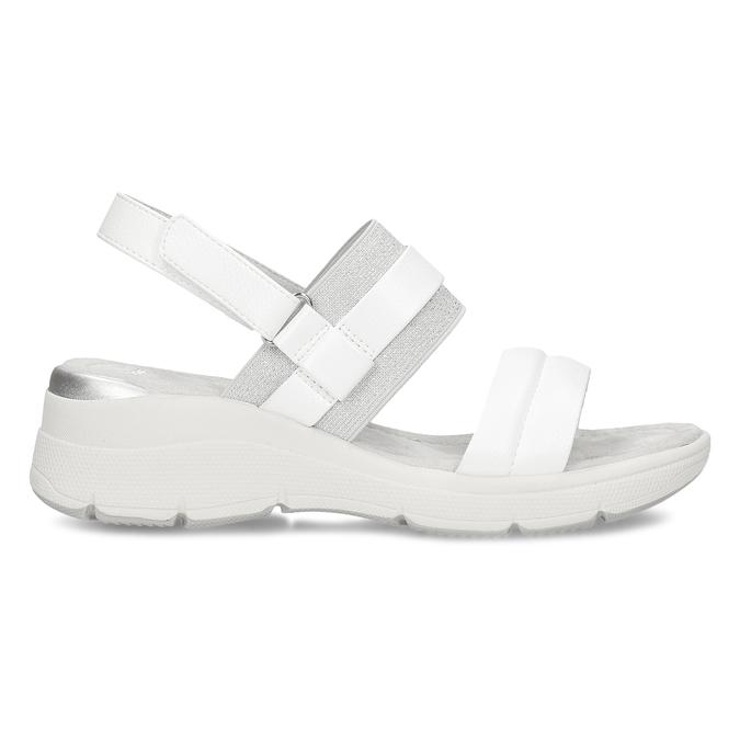 Bílé dámské sandály na klínovém podpatku bata, bílá, 661-1600 - 19