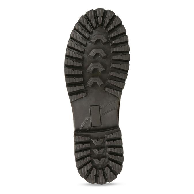 Kožená zimní obuv kotníčková bata, hnědá, 896-4661 - 18