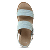 Modré dámské sandály na vyšší platformě bata, modrá, 561-9615 - 17