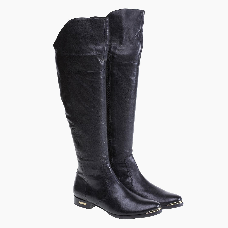 Kožené kozačky ke kolenům bata, 2019-594-6250 - 26