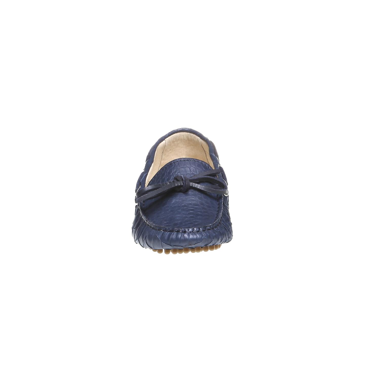 Kožené mokasíny bata, modrá, 2019-515-9330 - 16