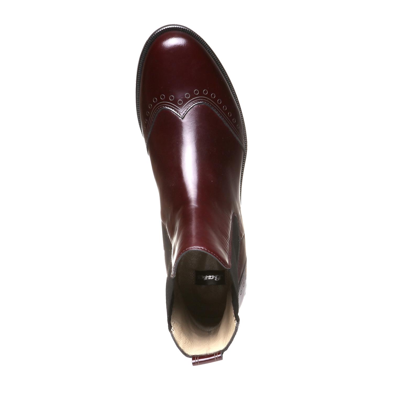 Trendy kožená Chelsea obuv bata, červená, 2019-594-5275 - 19