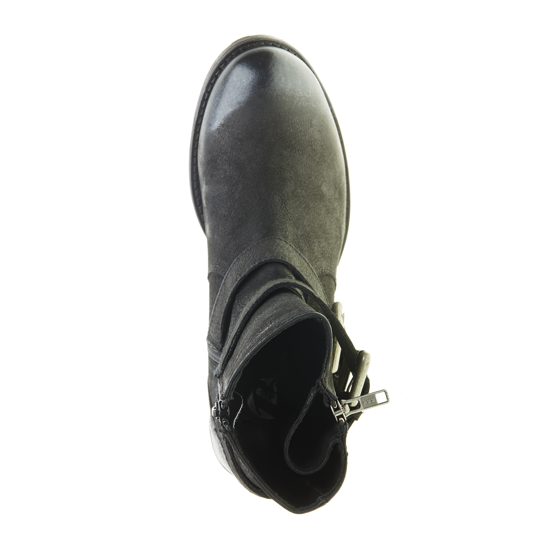 Kožené kotníčkové kozačky bata, černá, 2018-594-6478 - 19