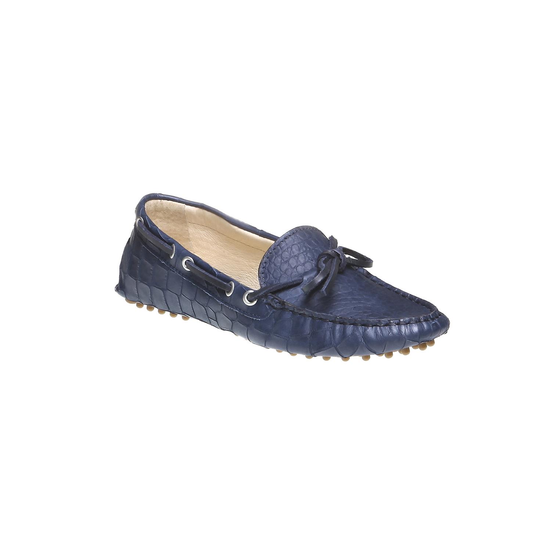 Kožené mokasíny bata, modrá, 2019-515-9330 - 13