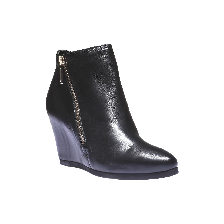 Kožená obuv na klínku hogl, 2018-794-6066 - 13