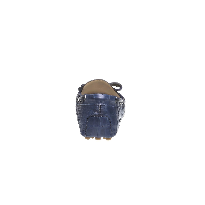 Kožené mokasíny bata, modrá, 2019-515-9330 - 17