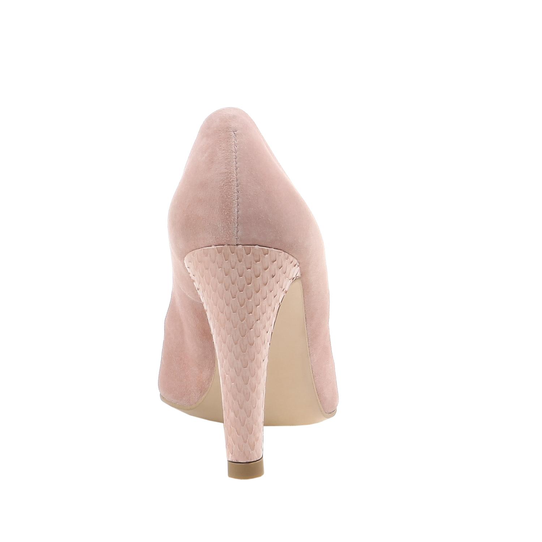 Klasické semišové lodičky  bata, růžová, 2017-723-5331 - 17