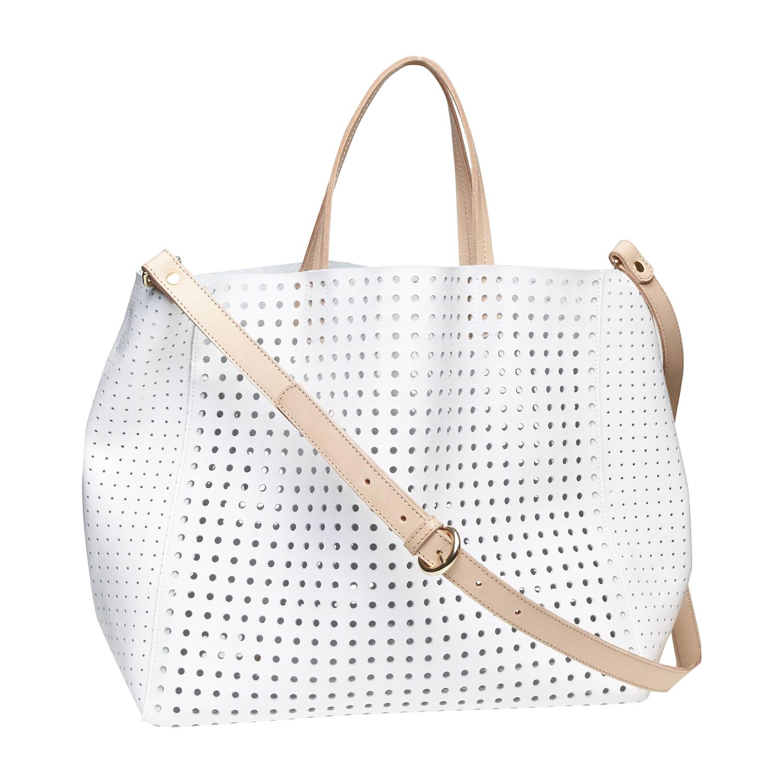 Kožená kabelka ve svěžím designu bata, bílá, 2017-964-1130 - 26