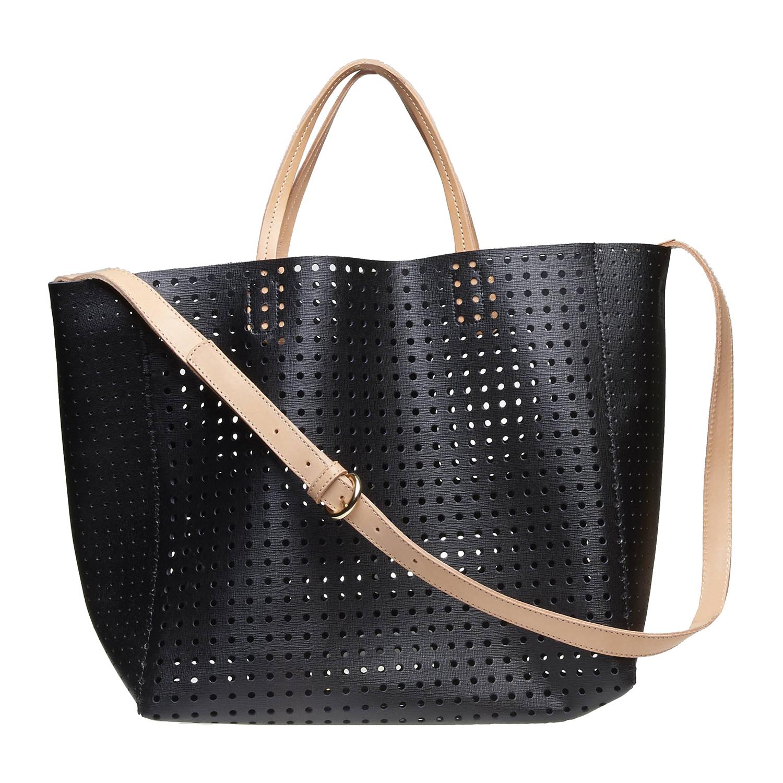 Kožená kabelka ve svěžím designu bata, černá, 2018-964-6130 - 26