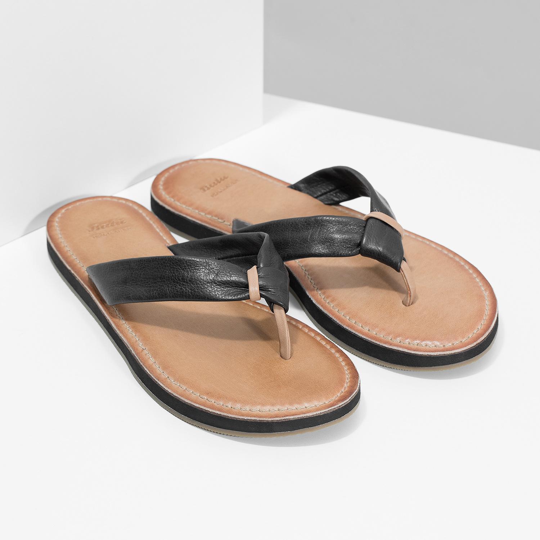 048bb20ed69f Baťa Černé kožené dámské žabky - Všechny boty