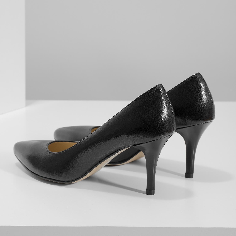 ad38db36ca Insolia Černé kožené lodičky do špičky - Všechny boty