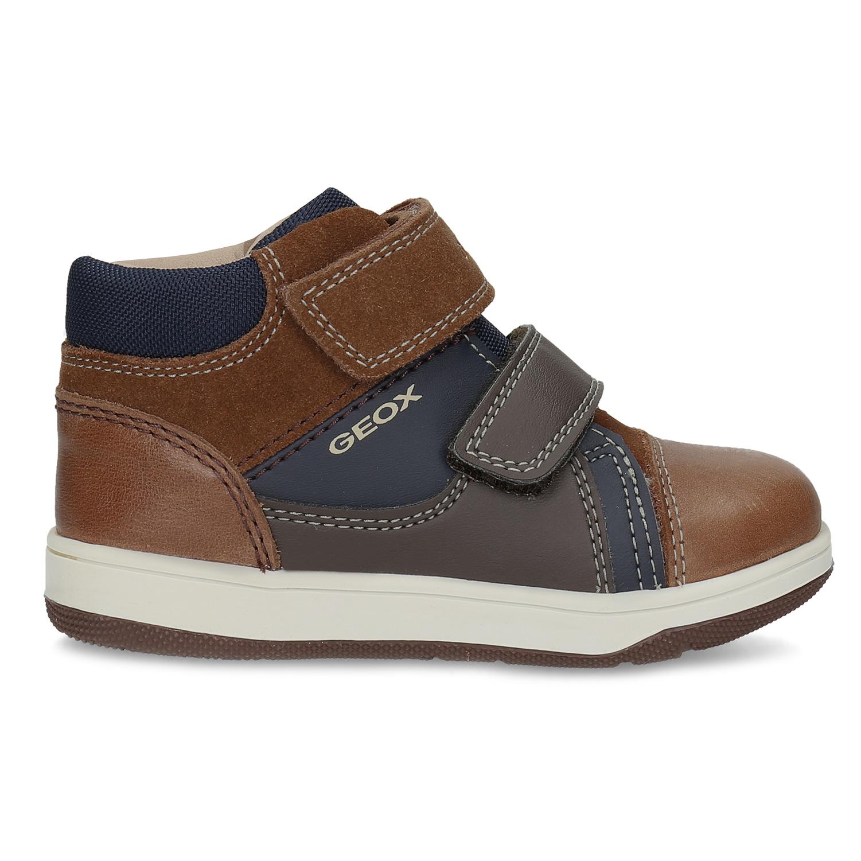 Geox Dětská hnědá kožená kotníčková obuv - Všechny dětské boty  555f8a1eb9
